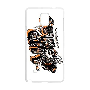 sunset overdrive Samsung Galaxy Note 4 Cell Phone Case White xlb2-060105