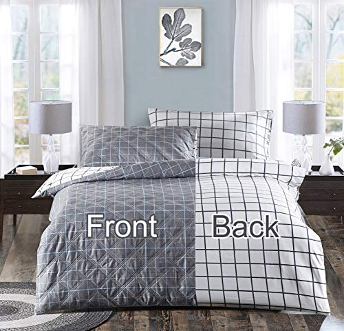 GOHOME Cotton Weighted Blanket Duvet Cover-36x48 Inches Heavy Blanket Cover with Zipper,8 Ties