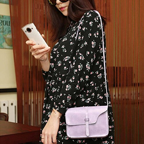Bag Bag Crossbody Shoulder Messenger Paymenow Cross Body Leather Little Leisure Bag Purple Shoulder Handle qgq7Yn