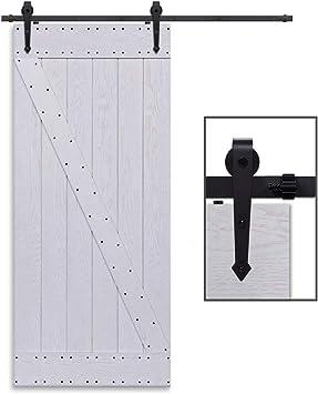 CCJH 6.6FT-200cm Herraje para Puerta Corredera Kit de Accesorios ...