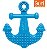 Mayapple Baby | Suri the Octopus and Friends Teether - 1 Silicone Teething Toy - Dark Blue Anchor Single - Award-winning, Patented