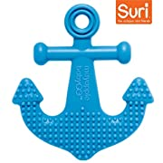Mayapple Baby - Suri the Octopus and Friends Teether - 1 Silicone Teething Toy - Dark Blue Anchor Single - Award-winning, Patented