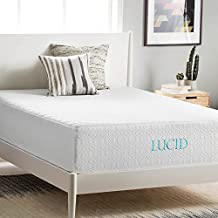 Lucid 14 Inch Plush Memory Foam Mattress, Four-Layer, Infused with Bamboo Charcoal, CertiPUR-US Certified, 25-Year Warranty, Queen