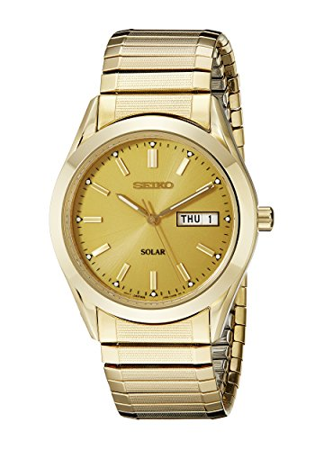 Gold Case Champagne Dial (Seiko Men's SNE058 Gold Tone Solar Champagne Dial Watch)