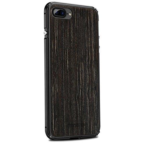 Vuage(TM) iPhone 7プラス7 6S 6プラスオリジナルの木製+メタルフレーム完璧な統合携帯電話のカバーケース新のために天然木の電話ケース B07BS9CHXW iPhone 6 6Sプラス3 iPhone 6 6Sプラス3