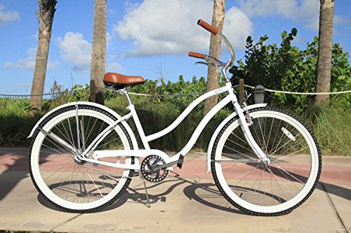 Loco Cycles Single Speed Step Thru Womens Beach Cruiser