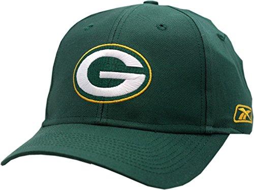 Reebok Green Bay Packers Hat Twill Velcro Back Green Logo (Reebok Womens Football)