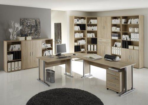 Büromöbel Komplett Set Office Line Eiche Sonoma 7-teilig