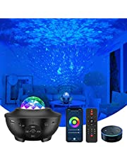 Smart Star Light Projector, Vaiseke 3 in 1 Starry Sky Night Light Projector, Work with Alexa, Bluetooth Music Speaker, Timer & Smart App, Remote and Voice Control, Star Sky Night Light for Kids Bedroom/Game Rooms/Home Theatre/Room Decor/Night Light Ambiance