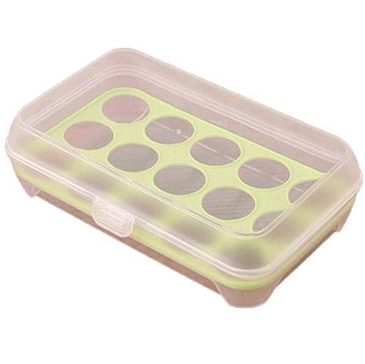 SJHPX Huevera, Huevera de plástico para la Nevera para 15 Huevos ...