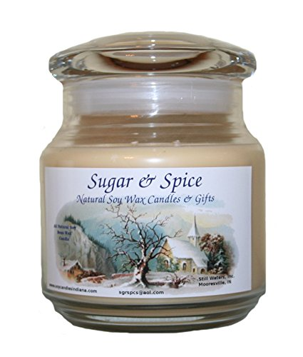 Sugar & Spice Natural Soy Wax Candles 16 Ounce (Gourmet Vanilla) ()