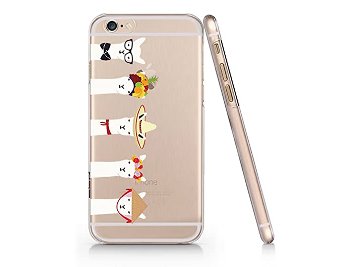 new product 543b8 4d0b5 Cute Llama Pattern Slim iPhone 6 Case, Clear iPhone Hard Cover Case for  Apple iPhone 6 Emerishop (iPhone 6)