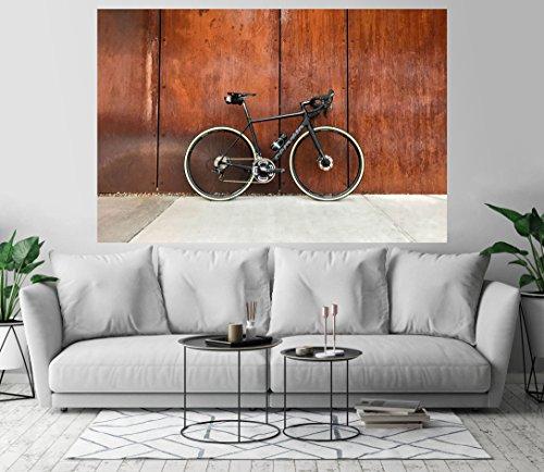 Modern Road Bike Bicycle Wall Art Print Decor Image Self-Adhesive - Wallpaper Sticker 48 x 72 - 3XL
