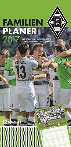 Borussia Mönchengladbach 2017 - Fankalender, Trikotkalender, Fußballkalender - 34 x 42 cm