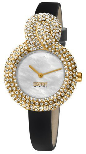 Esprit Collection Women's Quartz Watch Danae Gold - Swiss Made EL101182S03 with Leather Strap