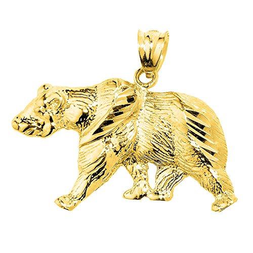 10 ct 471/1000 Or Jaune Diamant Coupe Ours- Pendentif