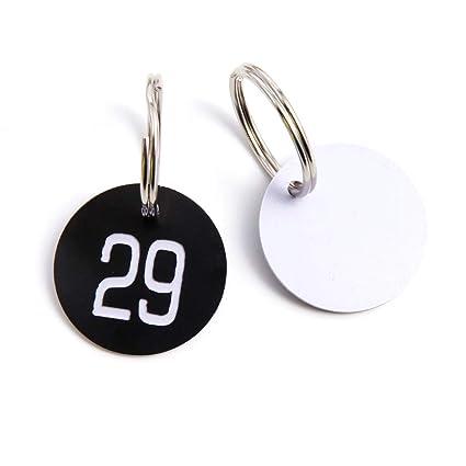 50/100 unds Etiqueta Números Identificador Hecho de Plástica ...