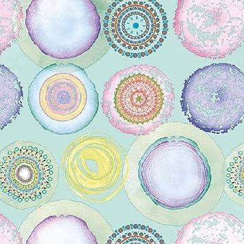 4 servilletas de papel para decoupage - 3 capas, 33 x 33 cm - Círculos de acuarela - Mezcla (4 servilletas individuales para manualidades y arte de ...