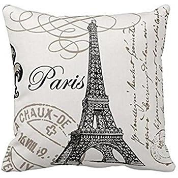 Amazon.com: Hmlover(TM) Funda de almohada decorativa de lino ...