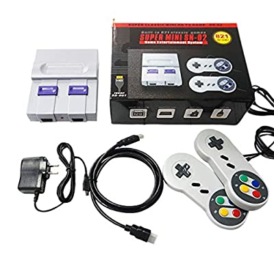 oukery Super Mini SNES NES Retro Classic Video Game Console TV Game Player ilt-in 821 Games with Dual Gamepads: Home & Kitchen