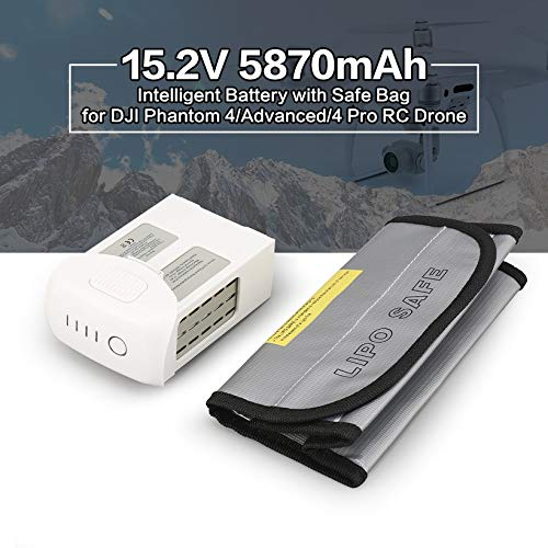 Wikiwand 15.2V 5870mAh Intelligent Battery Safe Bag for Phantom 4/Adv/4 Pro Drone by Wikiwand (Image #3)