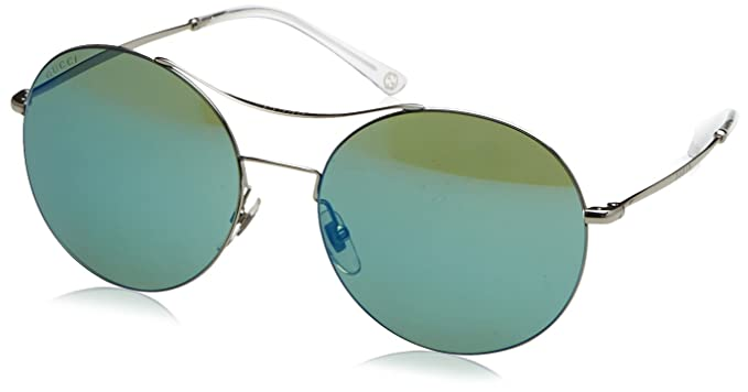 d976a2ceaf2 Amazon.com  Gucci Sunglasses - 4252   Frame  Ruthenium Lens  Green ...