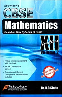 cbse mathematics for class xii vol 2 amazon in k c sinha books
