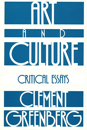 Art and Culture: Critical Essays [Clement Greenberg] (Tapa Blanda)