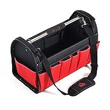 "HOMCOM 18.5"" Tool Bag Mechanic Heavy Duty Portable Storage Organizer Tote"