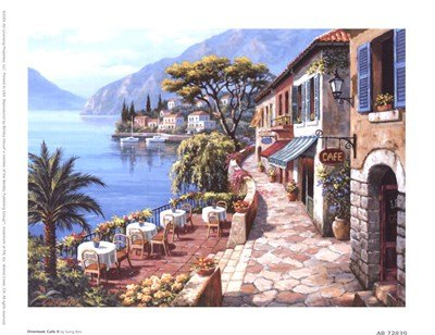 - Overlook Cafe II by Sung Kim - 8x6 Inches - Art Print Poster