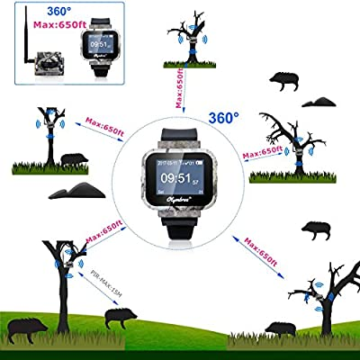 Wireless Motion Detector Olymbros Z3 Hunting Camping Security Outdoor Waterproof Alarm Alert System with Sound Vibration Portable Watch Receiver Animal motions