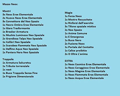 Pronto per Duellare Fusioni Neos Eroe Elementale Deck Completo Mazzo Completo di 40 Carte Yu-Gi-Oh!