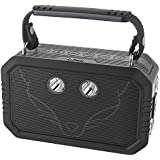 DOSS Wireless Portable Bluetooth Speakers with Waterproof IPX6, 20W Stereo Sound and Bold Bass, 12H Playtime, Durable for iPhone, Samsung, Tablet, Echo dot, Gift ideas - Black