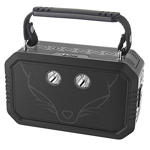 DOSS Wireless Portable Bluetooth Speakers with Waterproof IPX6, 20W Stereo Sound and Bold Bass, 12H Playtime, Durable for iPhone, Samsung, Tablet, Echo dot, Gift ideas – Black