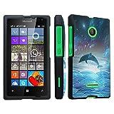 DuroCase ® Microsoft Lumia 435 (Released in 2015) Hard Case Black - (Dolphin)