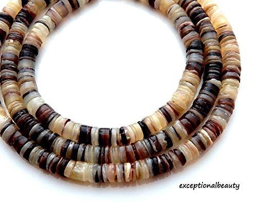 Pendant Jewelry Making Shell 4-5mm Heishi Slice Tropical Puka Shell Beads Long 24 Inch Strand