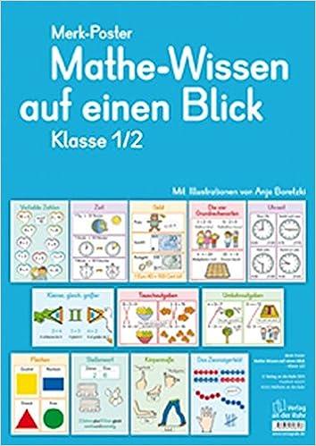 Merk Poster Mathe Wissen Auf Einen Blick Klasse 1 2