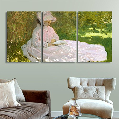 3 Panel Springtime by Claude Monet x 3 Panels