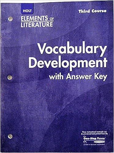 Elements of literature vocabulary development third course elements of literature vocabulary development third course 1st edition fandeluxe Images