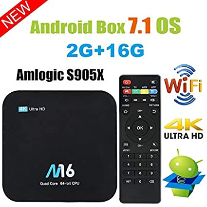 TV Box Android 7.1 - VIDEN Smart TV Box Amlogic S905X Quad Core, 2GB RAM & 16GB