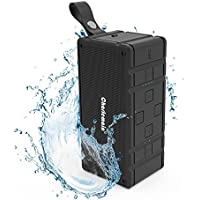 Bluetooth Speaker, V4.2 Wireless Speaker with Enhanced Bass Dual 10W Drivers Mini Portable Outdoor Speaker Built-in Mic, TF Card Slot, 3.5 mm Aux Input IPX6 Waterproof for Beach, Shower & Home