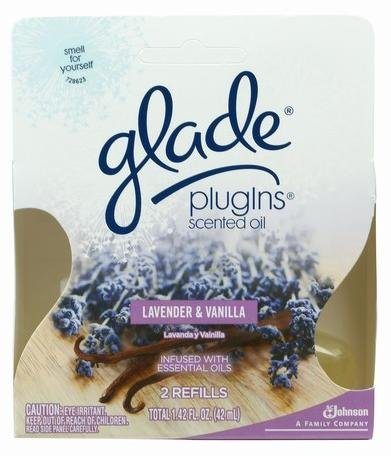 Glade Plug In Scented Oil, Lavendar and Vanilla, 2-Count Boxes (Pack of 6)