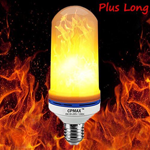 CPMAX Plus Long Flame LED Bulb E26 / E27 Fire Light Bulb Decoration Novelty Candles for Christmas Holiday (7.28 inches)