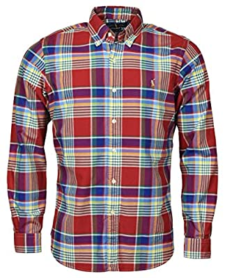 POLO RALPH LAUREN Men's Classic Fit Plaid Oxford Button-Down Shirt