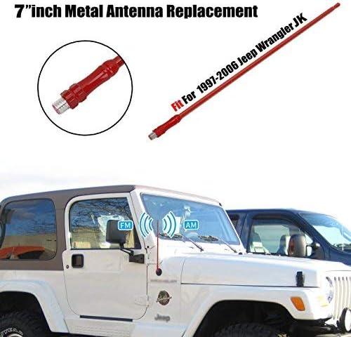 "Black Reflex 13/"" AM FM Radio Antenna Durable For Jeep Wrangler JK JL 2007-2018"