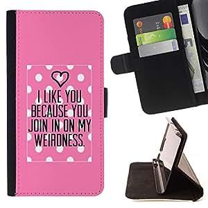 Momo Phone Case / Flip Funda de Cuero Case Cover - Amour rose Valentines Couple - Apple Iphone 6