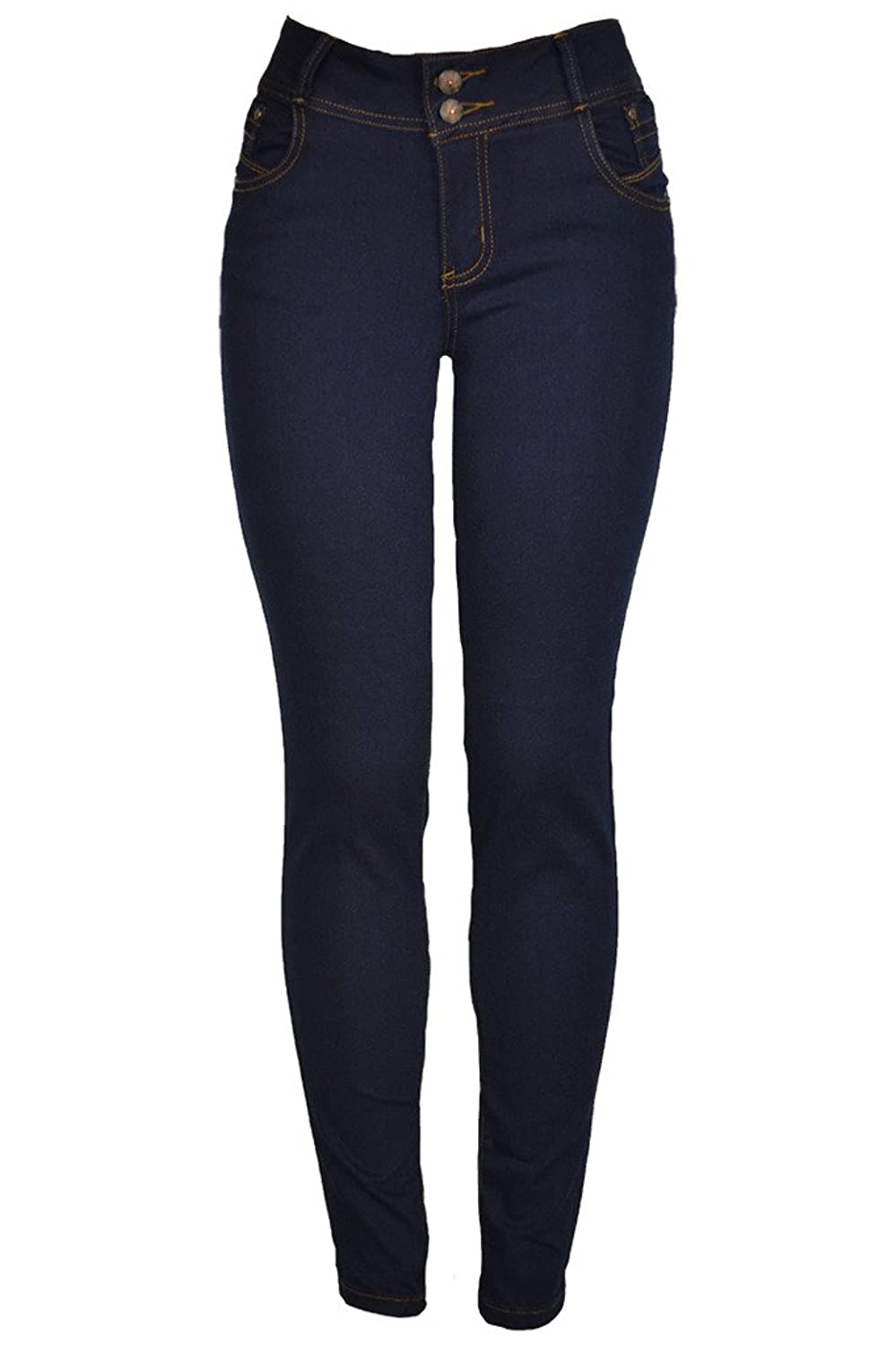 143Fashion Juniors Stretchy Mid-Rise Five Pocket Skinny Jeans