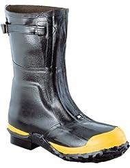 Ranger Linemans Zip Pac 12 Heavy-Duty Insulated Rubber Mens Work Boots with Steel Toe & Steel Midsole, Black...