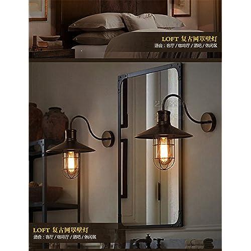 MMYNL Moderne Appliques Murales Vintage E27 Antique Lampe Pour Chambre  Salon Bar Couloir Salle De Bains