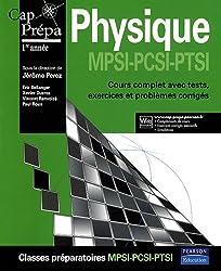 Physique MPSI-PCSI-PTSI : Cours complets avec tests, exercices et problèmes corrigés